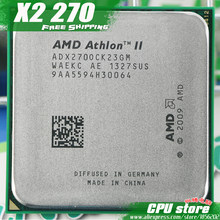 Процессор AMD Athlon II X2 270 Процессор двухъядерный процессор (3,4 ГГц/L2 = 2 м/65 Вт/2000 ГГц) Socket am3 am2 + 938 pin, продать X2 280(China)