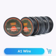 Volcanee 10m/roll A1 Wire Heating Wire Coiling Resistance 22 24 26 28 30 32GA for DIY RDA Atomizer Vape Electronic Cigarette(China)