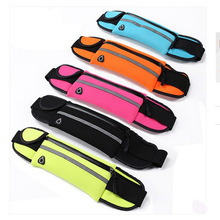 Sports Running Waist for phone bag earphone Reflective simple Trainning Hiking Waist Bag Pouch Waist Belt For Travel(China)