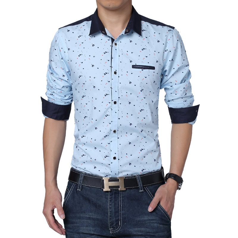 2017 Autumn Men Fashion Shirts High Quality Plus Size 3xl 4xl 5xl Fl Print Casual 5z In From S Clothing Accessories On