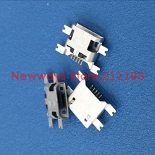 100pcs Micro USB Connector 5pin 1.17mm heavy plate B type no side Female Jack For Mobile Mini USB repair mobile tablet Tail plug(China)