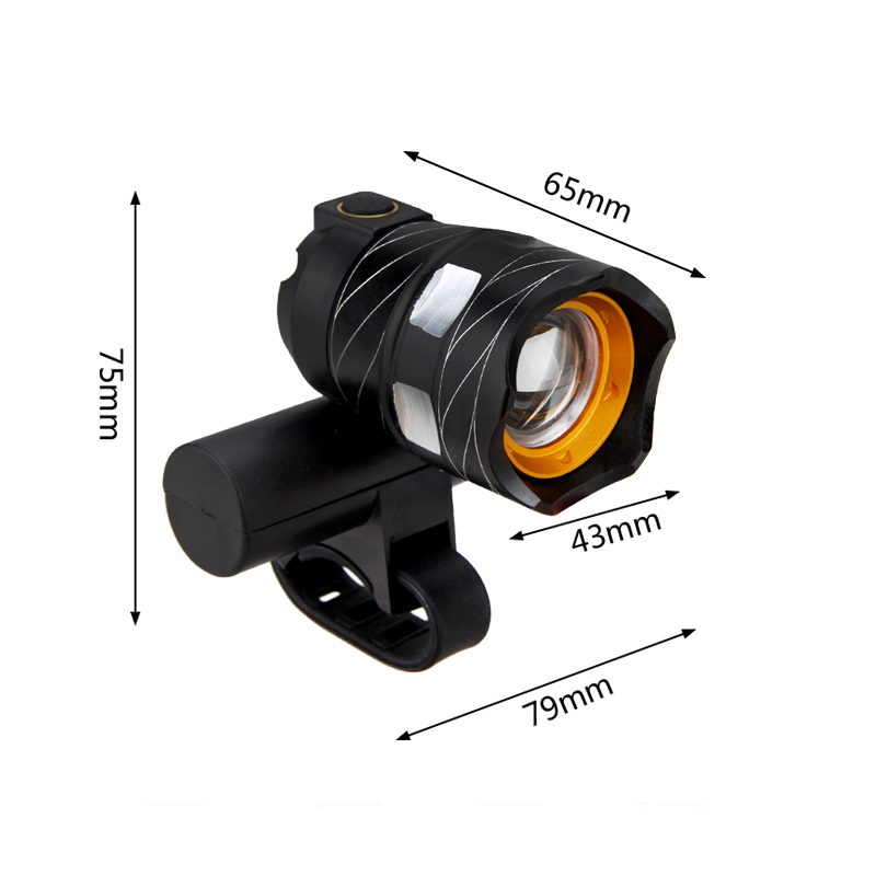 Rechargeable 15000LM XM-L T6 LED MTB Bicycle Light Bike Front Headlight w// USB
