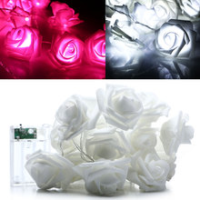 2.2M 20LED Rose Flower Fairy String Light For Wedding Party Christmas Decoration Valentine's Day party