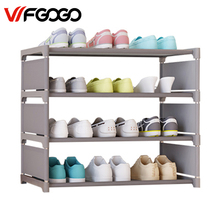 WFGOGO Simple Shoe Cabinets Ironwork Multi-layer Assembly of Shoe Rack with Modern Simple Dustproof Shoe Cabinet 50 cm high