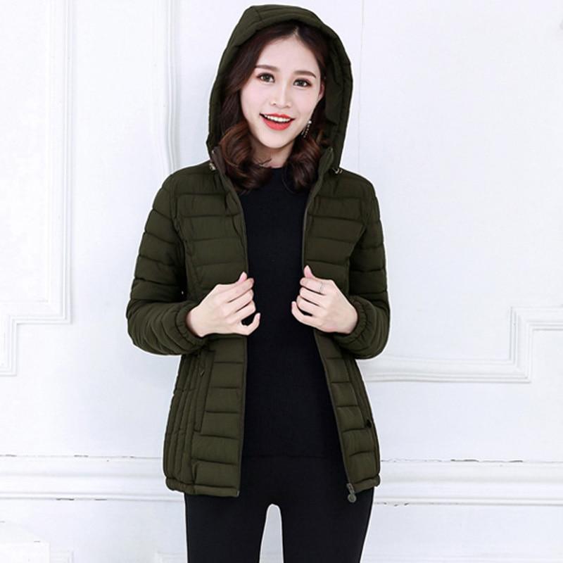 2017 New Autumn Casual Parkas Winter Autumn Women Coat Jacket Female Slim Cotton Jacket Parkas Mujer Plus Size 6XL Winter Coat Îäåæäà è àêñåññóàðû<br><br>