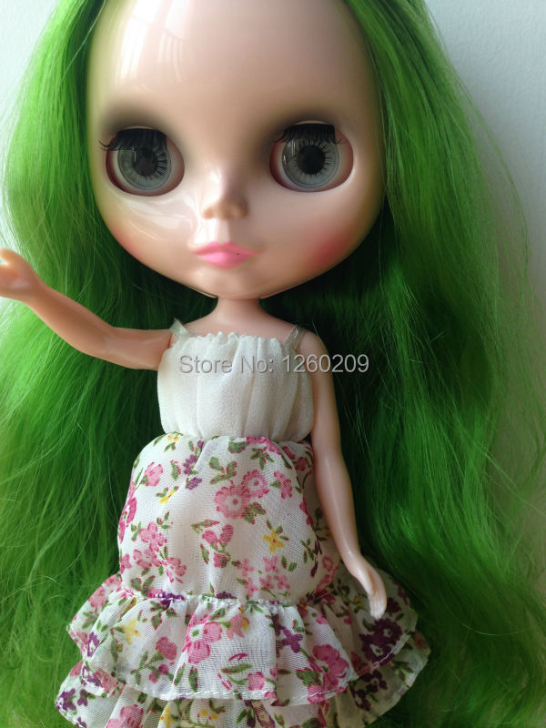 Blyth, Nude Doll On Sale Blythes,Green Hair (S15042214)(China (Mainland))