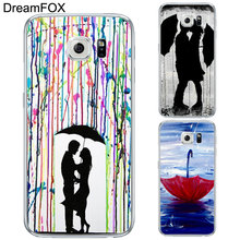 L232 Romantic Umbrella Girl Soft TPU Silicone Case Cover For Samsung Galaxy Note 3 4 5 8 S5 S6 S7 Edge S8 Plus Grand Prime