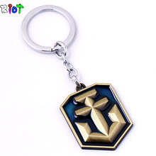 Julie Jewelry World of Warships Game Logo Metal Keychains New Arrival Game Series Key Rings Llaveros porte clef key
