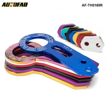 AUTOFAB - Anodized Universal Rear Tow Hook Billet Aluminum Towing Kit For JDM Racing AF-TH0185R