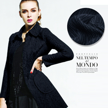 Dark blue jacquard wool fabric autumn and winter clothing coat wool jacquard fabric wool polyester fabric wholesale wool cloth(China)