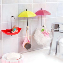 3Pcs Colorful Umbrella Wall Hook Key Hair Pin Holder Organizer Decorative Hook Home Storage Products