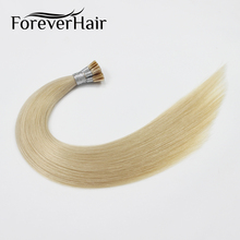 "FOREVER HAIR 0.8g/s 18"" Remy I TIP Human Hair Extension Platinum Blonde #60 Silky Straight Fusion Stick PreBonded Hair Extension"