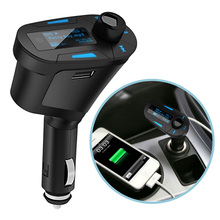3Colors Car Kit MP3 Mucsic Player Wireless FM Transmitter Radio Modulator With USB SD MMC+ Remote Control FreeShipping QP0026-30