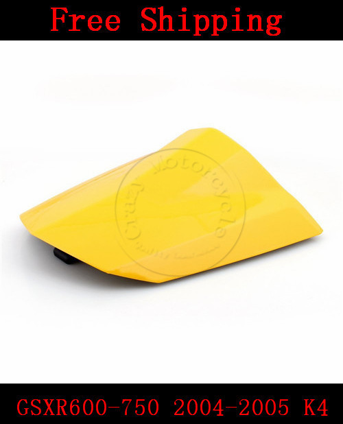 For Suzuki GSXR 600 GSX R 750 2004-2005 K4 motorbike seat cover Brand New Motorcycle Yellow fairing rear sear cowl cover<br><br>Aliexpress