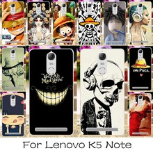 DIY Hard Plastic Phone Case For Lenovo Lemon K5 Note 5.5 inch Covers Skull Head Naruto Shell Housing For Lenovo K5 Note Case