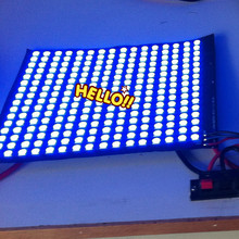 New Arrival 5 pcs 16*16 Pixels WS2812B LED Full Color Digital Flex Panel RGB Light Display Board 5V