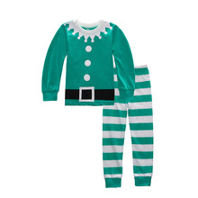 New Year Pure Cotton Christmas Long-Sleeved Boy's Sets Kids Clothes Clothing Sets Children's Pajamas Santa Claus Sets P051