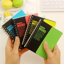 4 style/Hot sell Vintage fluorescence color series Kraft paper Word book/Notepad/Memo pad/ gift/office school supplies/Wholesale