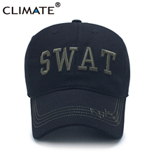 CLIMATE New SWAT Men Caps S.W.A.T USA Army Black Baseball Caps Special Weapons Tactics Black Cool Caps Hat Adult Men
