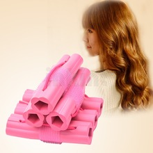 2015 Hot 6pcs Magic Hair Curler Fashion Sponge Hair Roller Hair Styling DIY plastic hair rollers HS41 47 Z