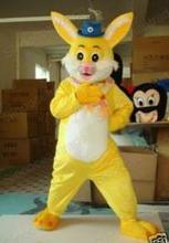 yellow rabbit bunny mascot costumes  Chirstmas party birthday gift Halloween Fancy Dress Adult Size custom made