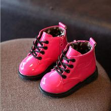 Candy Color Children Boots Boys Shoes Hot-Sale Autumn Winter Solid Fashion Girls Boots Kids Soft Waterproof Boots Siz 21-30