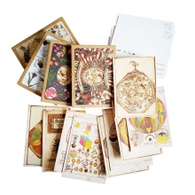 4 Pack/lot Vintage Mysterious Science Series Postcard Kawaii Gift Card DIY Greeting & Invitation Cards Wholesale(China)