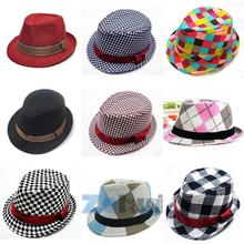 2017 Fashion Jazz Toddler Kids Baby Boy Girl Cap Cool Photography Fedora Hat Top
