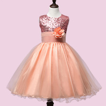 Kids Infant Girl Flower Petals Dress Children Bridesmaid Toddler Elegant Dress Pageant Vestido Infantil Tulle Formal Party Dres