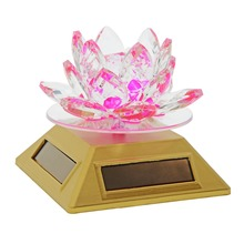 "3.8"" Car Perfumer Seat Car Perfume Air Freshener Acrylic Crystal Lotus Automotive Supplier Car Decoration Accessories Styling(China)"