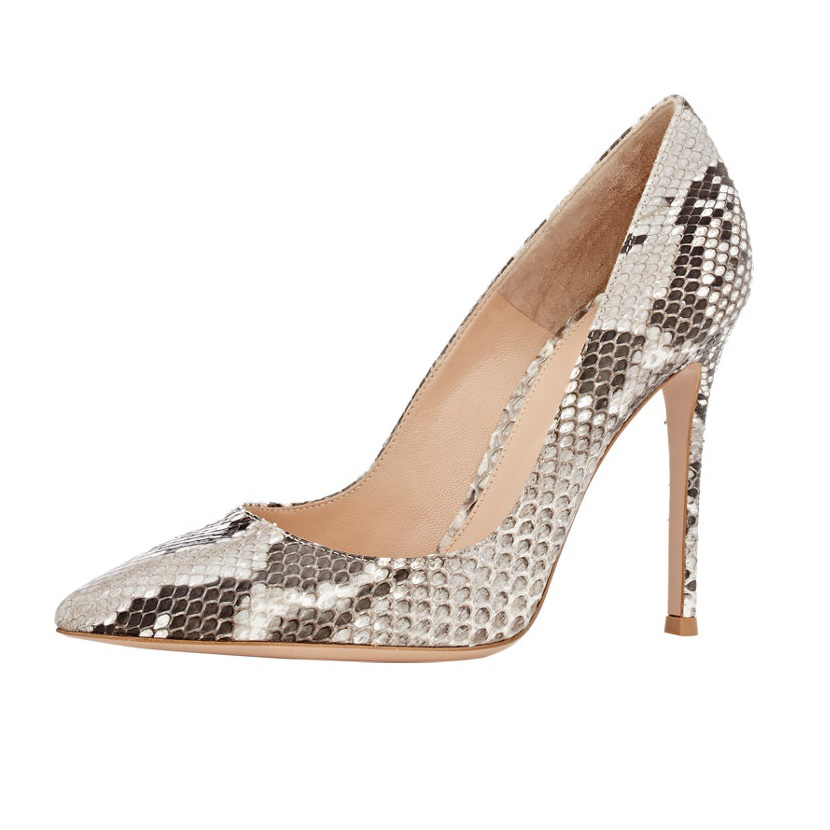 Amourplato Womens High Heel Animal Print Python Pumps Pointed Toe Snakeskin Pattern New Fashion Party Events Dress Shoes<br><br>Aliexpress