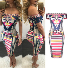 2017 African Dress Dresses For Women Top Fashion Models In The Summer Of New National Wind Body Printed On Waist To Show Thin