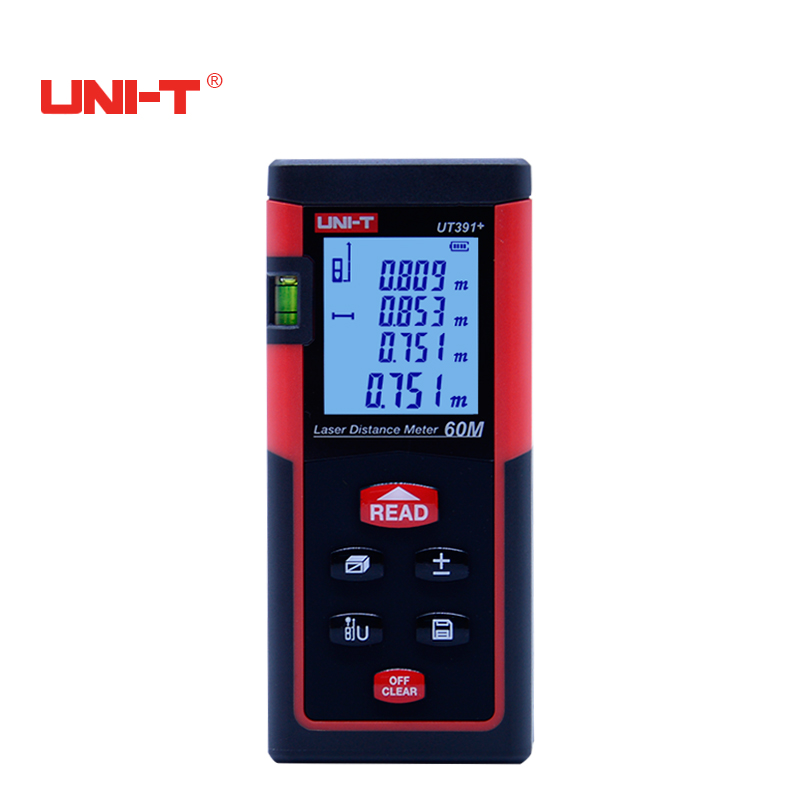 UNI-T UT391+ 60m Digital Laser Rangefinder Laser Distance Meter for Area/Volumn Testing Automatic calibration<br>