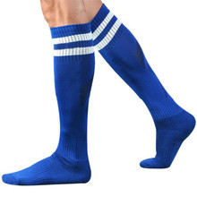 2017 one Pari Men Football Socks Long Stockings  For Adults Anti-Slip Soccer Sports Socks LREW#zy*