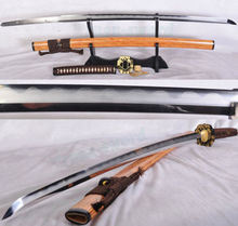TOP quality tradition Clay Tempered Folded Steel Japanese sword katana sharp