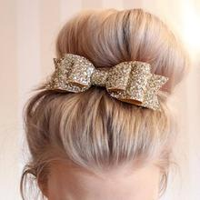 Hair Clip Women Baby Girl Big Glitter Hair Bow Kids Hairpins Hair Clips For Children Hair Accessories Toddler Headwear(China)