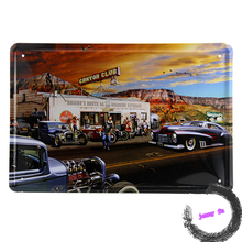 Metal plque Canyon Club Roadside for Hot Road  Cars Custom  Tin Sign Decor I102