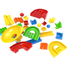 Crazy Fun Rolling Ball Building Blocks Marble Run Bricks Parts Accessories Compatible with Duploeed DIY Toys