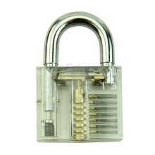 Nice 1 pc Hot Pick Cutaway Inside View Padlock Lock For Locksmith Practice Training Skill #U225#