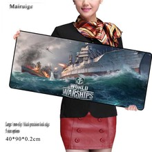 Large Game World of Warships Mouse Pad 900*400*2mm New Arrivals with Edge Locking Speed Version Game Keyboard Pad for CSGO Gamer