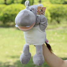 Stuffed Hippo Doll Puppets Toy  Large Hand Puppet cartoon Plush Children's Puzzle Toy Gift