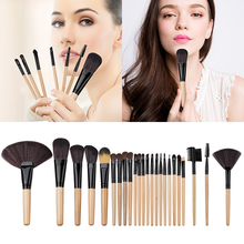 2017 Multifunction Eyeliner Eyeshadow Brushes New Makeup Brushes Set Wood Handle Nylon Soft Hair Powder Makeup Brushes M03899