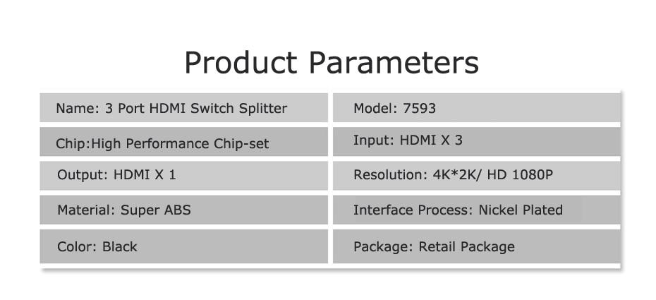 hdmi splitter 4k hdmi switch 8