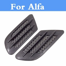 Buy Carbon fiber Shark Gills Shape Intake Grille Wind Net Sticker Alfa Romeo Disco Volante Giulietta GT GTV MiTo Spider for $9.50 in AliExpress store