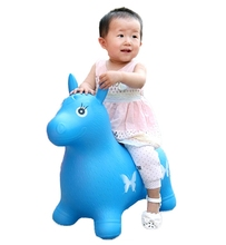 Jumping Horse Extra Thickness Large Rides on Toys Inflatable Bouncer Jumping Horse Child Inflatable Rubber Baby Sports