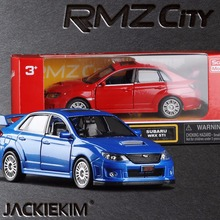 High simulation 2011 Subaru Impreza 1:36 scale Coupe metal pull back WRC STI cars 2 open door model car toys free shipping