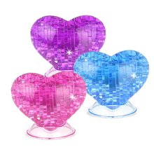 New 3D Crysta lHeart Shape Building Crystal Puzzle Model DIY Star Intellectual Furnish Gadg Toys Jigsaw Early Education Puzzle(China)