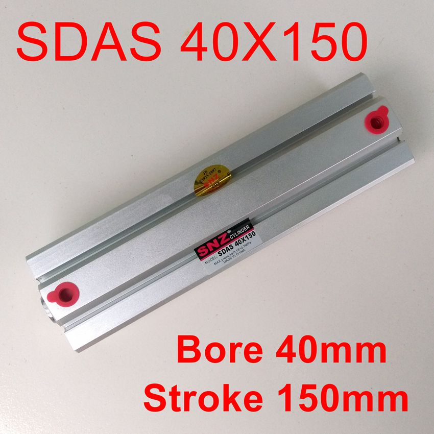 Bore 40mm Stroke150mm Pneumatic Compact Cylinder With Magnetic SDAS40X150<br>