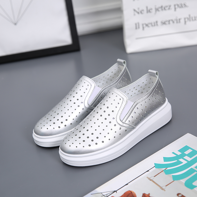 New 2015 Fashion Thick Soles Woman Loafers Summer Korea Round Toe Women Flats Shoes Slip on Cutout Fisherman Shoes Woman Shoes<br><br>Aliexpress