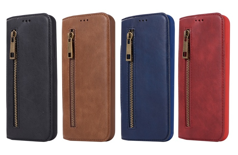 solque genuine leather flip case for iPhone x luxury card cover